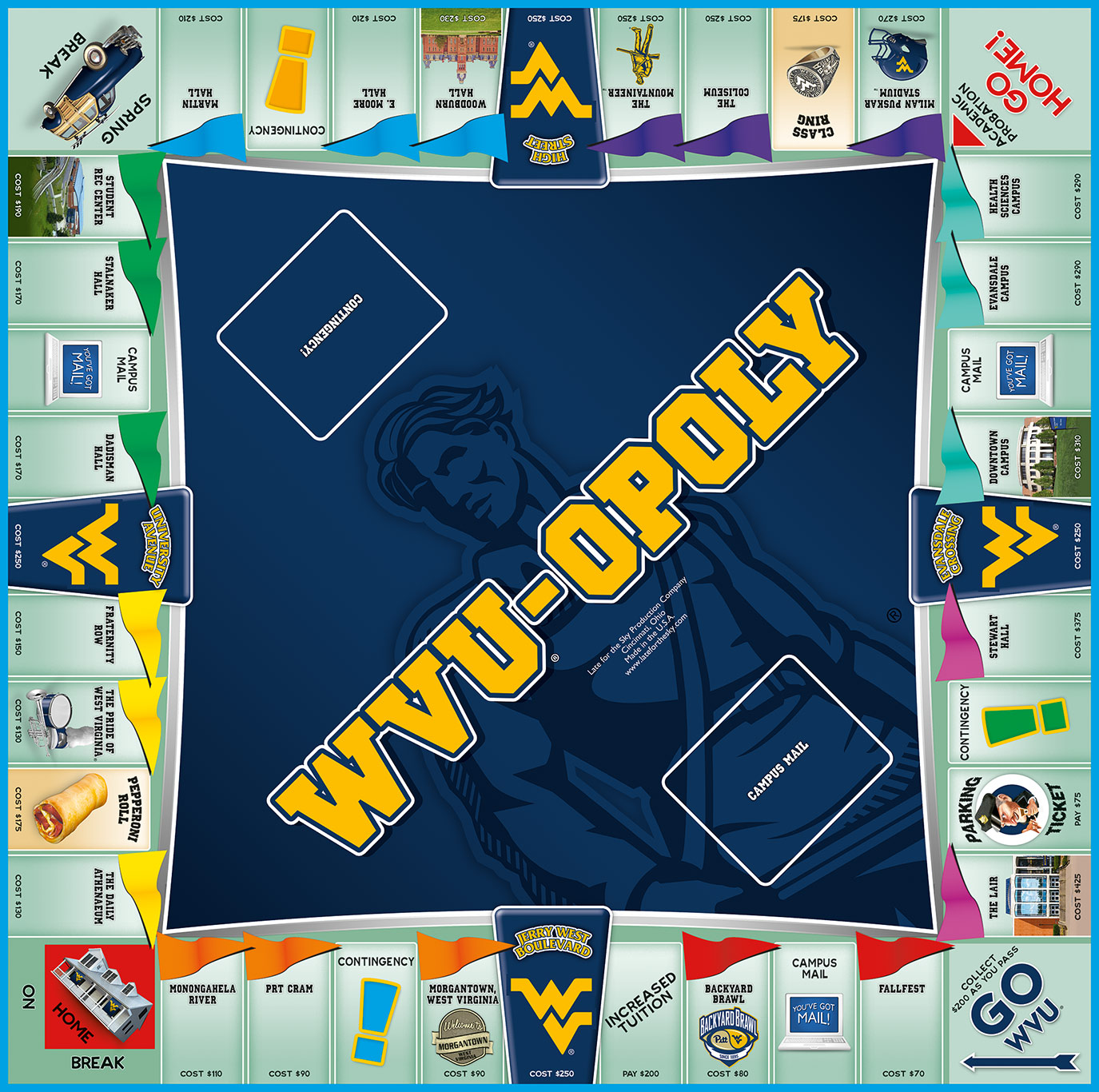 WVU-OPOLY Board Game