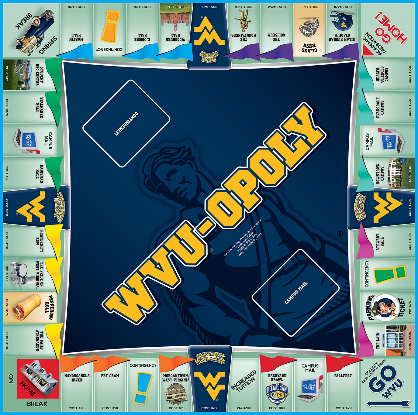 WVU-OPOLY Board Game