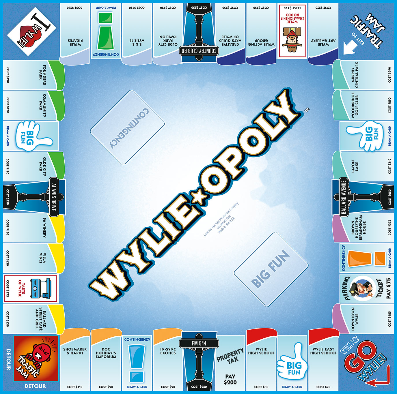WYLIE-OPOLY Board Game