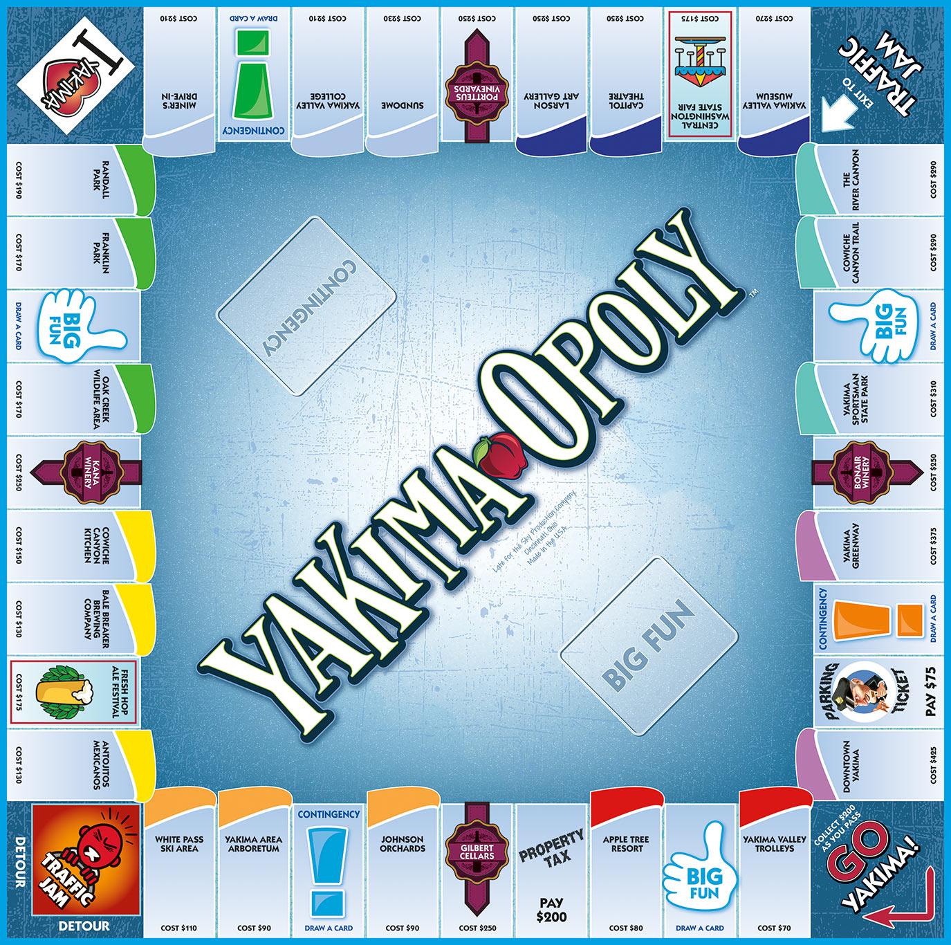 YAKIMA-OPOLY Board Game