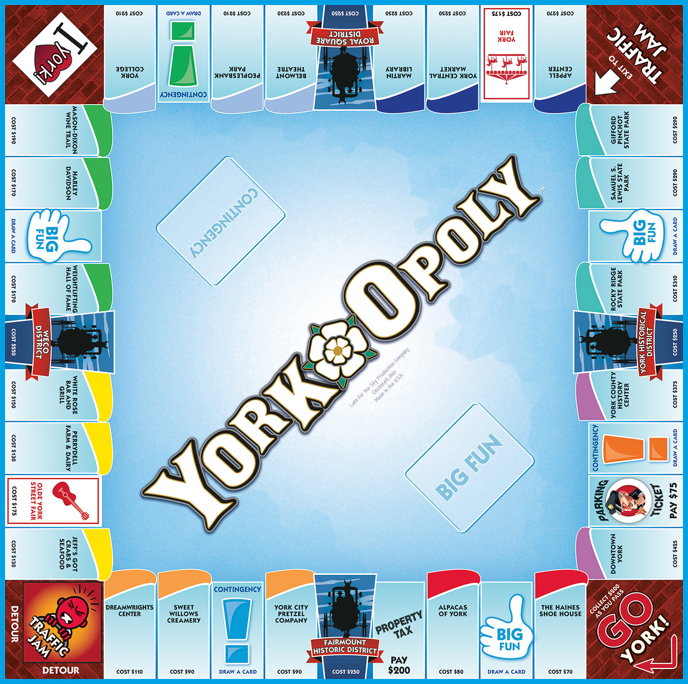 YORK-OPOLY Board Game