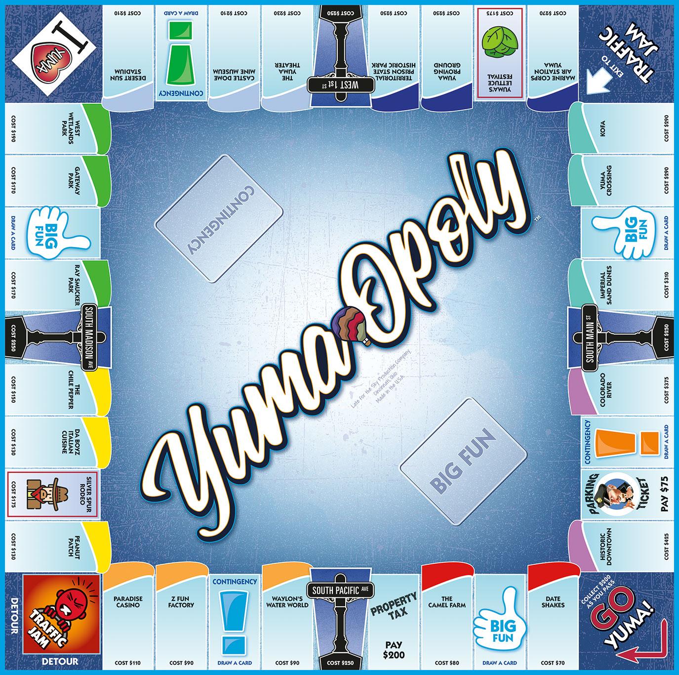 YUMA-OPOLY Board Game